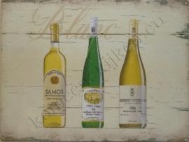 metalen wandplaat vine blanc 30-40 cm