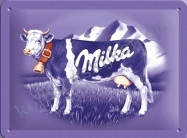 metalen reclamebord milka koe 15-20 cm