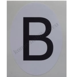 sticker ovaal België staand 6,5 bij 9 cm