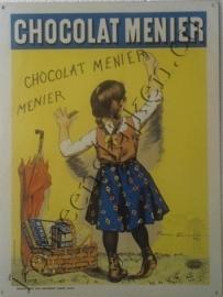 metalen wandbord chocolat menier 30-40 cm