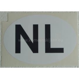 Witte NL sticker XXL 17,3 cm