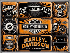 magneetset Harley Davidson wild at heart