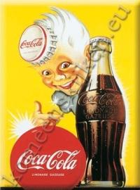 Coca Cola jongen met kroonkurk als hoed 15-21 cm