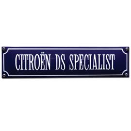 emaille straatnaambord citroen DS specialist
