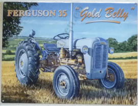 metalen wandbord Ferguson 35 gold belly 30-40 cm