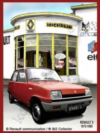 blikken reclamebord Renault 5 Garage Michelin 30-40 cm