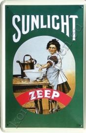 metalen reclamebord Sunlight zeep 20-30 cm