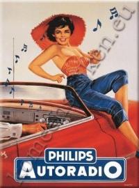 metalen ansichtkaart Philips autoradio 15-21 cm