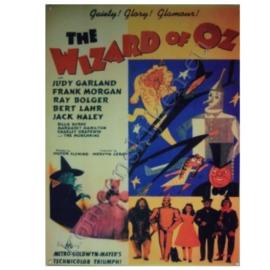 metalen wandplaat the wizard of oz 30-40 cm