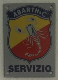 emaille bord Abarth servizio 10x14 cm