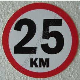 sticker 25 km 7,5 cm