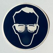 sticker veiligheidsbril 8,5 cm.