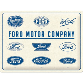 blikken wandbord Ford Logo Evolution 30 x 40 cm