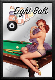 spiegel snooker eight ball pin up