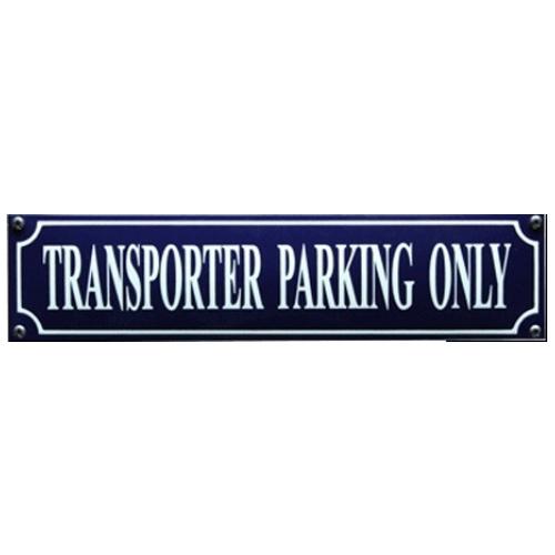emaille straatnaambord transporter parking only