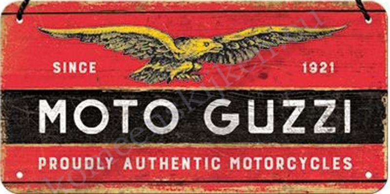 hanging sign / deurbordje Moto Guzzi 10x20 cm