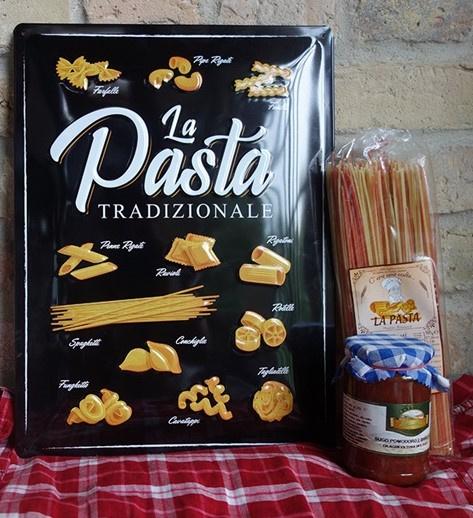 metalen wandbord la pasta tradizionale 30-40 cm