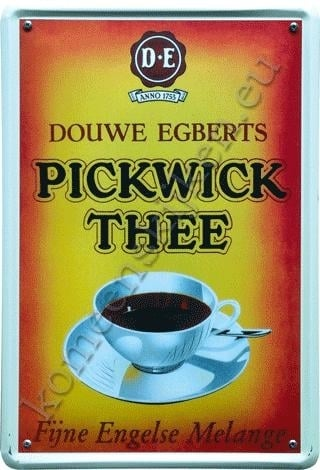 blikken reclamebord Pick wick 30-40 cm