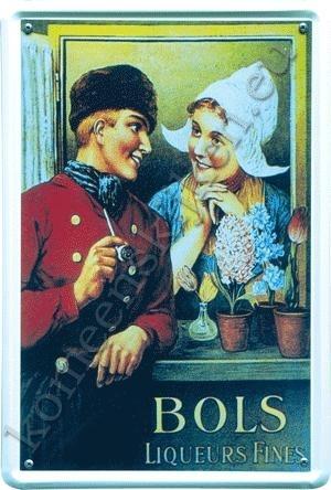 blikken wandbord Bols liqueurs 20-30 cm