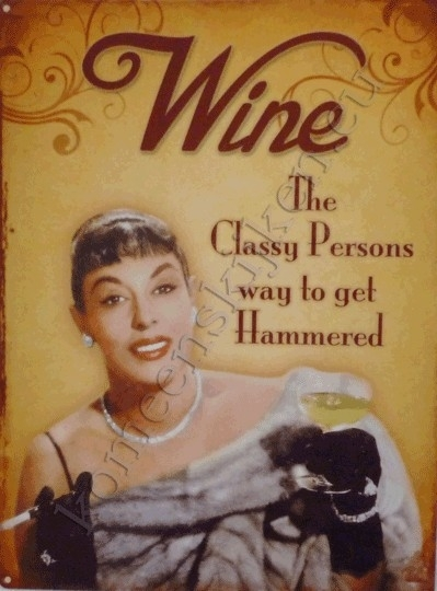 blikken wandplaat wine 30-40 cm