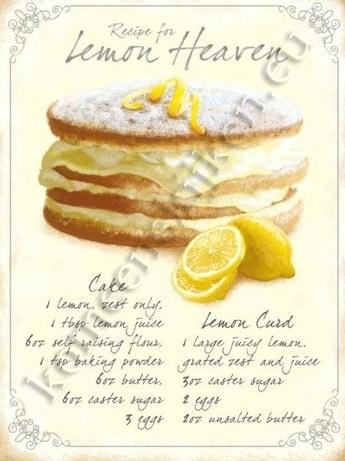 metalen wandplaat lemon heaven 30-40 cm