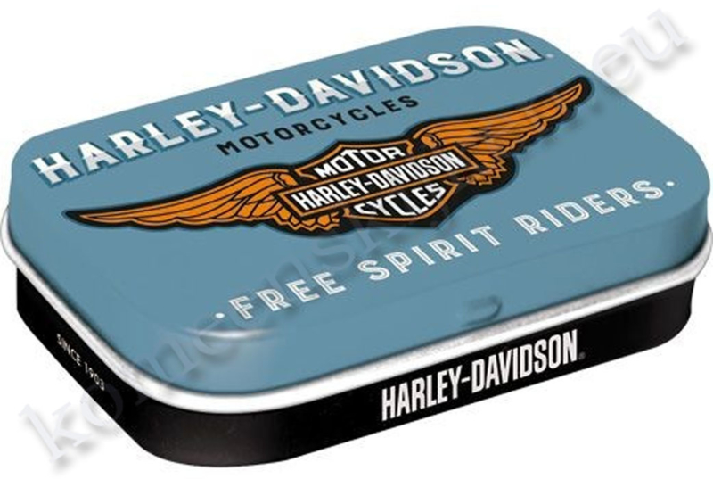metalen pepermuntdoosje Harley Davidson motorcycles logo