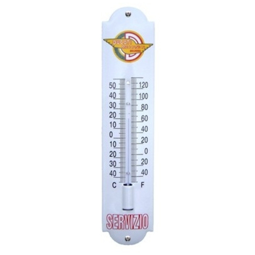 emaille thermometer ducati wit