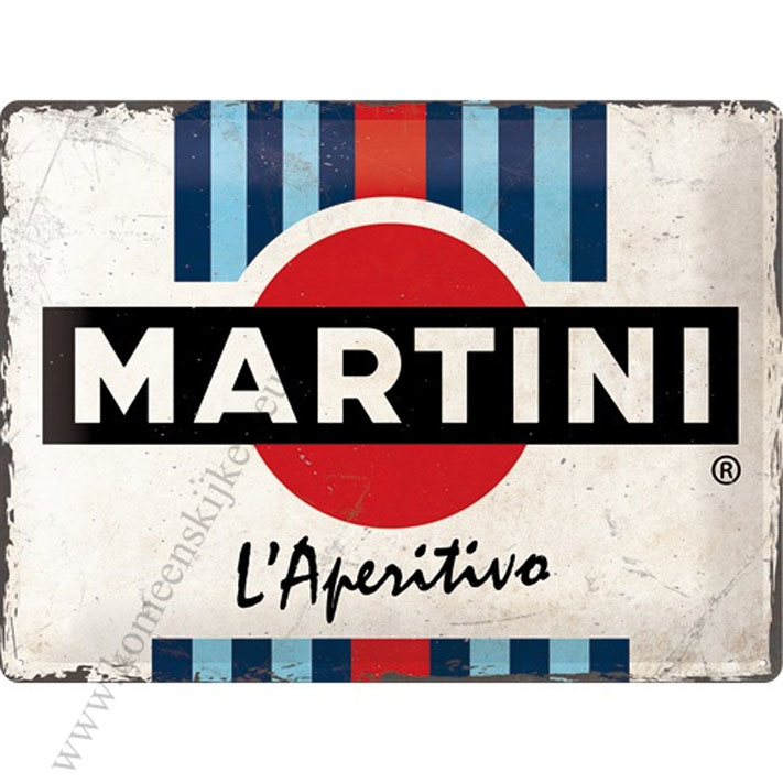 metalen wandplaat Martini l'aperitivo 30x40 cm