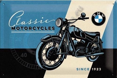 metalen wandbord bmw classic motorcycles 20-30 cm