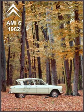 metalen reclamebord citroen ami 6 1962 20-30 cm