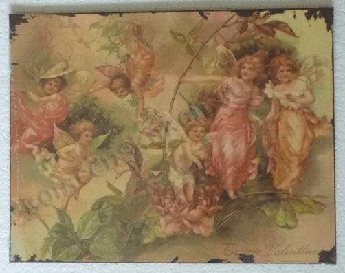wandbord engeltjes tafreel 35-27 cm