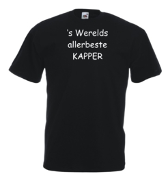 T-shirt zwart Kapper
