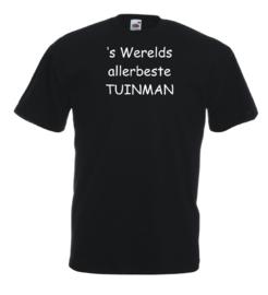 T-shirt zwart Tuinman