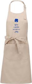 Special - Luxe schort - Geluk is genieten - met naam