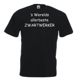 T-shirt zwart Zwartwerker