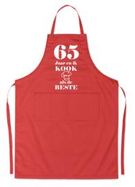 """Luxe schort xx jaar """"Ik kook als de beste"""""""