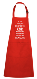 Luxe schort - Geen perfecte kok