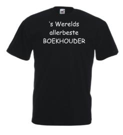 T-shirt zwart Boekhouder