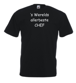 T-shirt zwart Chef