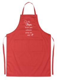 Luxe schort - Als PAPA kookt gaat iedereen graag aan tafel