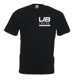 T-shirt unisex zwart bedrijfslogo