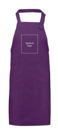 "Schort ""Royal Chef"" - paars - met opdruk logo - special"