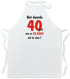 LvB Keukenschort - wit - het duurde 40 jaar