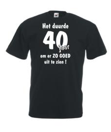 T-shirt - het duurde 40 jaar - maat XL - zwart