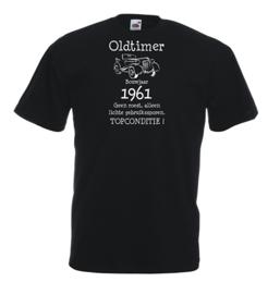Unisex T-shirt zwart Oldtimer