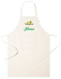 Keukenschort - Bio Greenfood Organic - voornaam