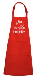 BBQ- schort - The Grillfather - met naam