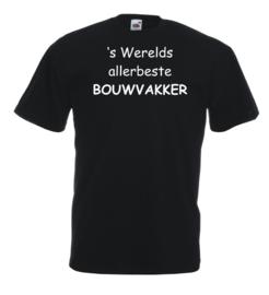 T-shirt zwart Bouwvakker