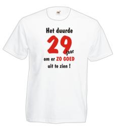 T-shirt wit - Maat L - Het duurde 29 jaar