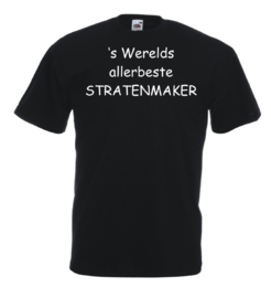 T-shirt zwart Stratenmaker